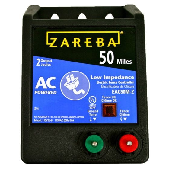 Zareba® 50 Mile AC Powered Low Impedence  Charger - 1-Pack